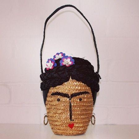 Bolso mimbre Frida Kahlo