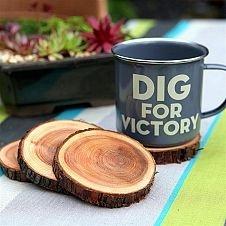 Posa vasos de madera