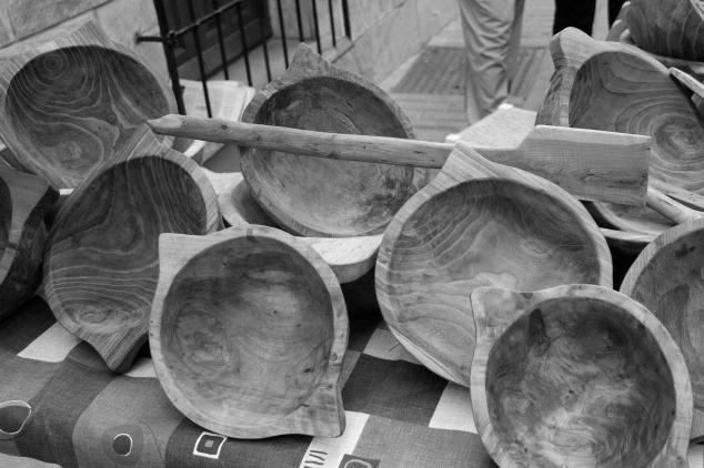 Morteros y utensilios de madera