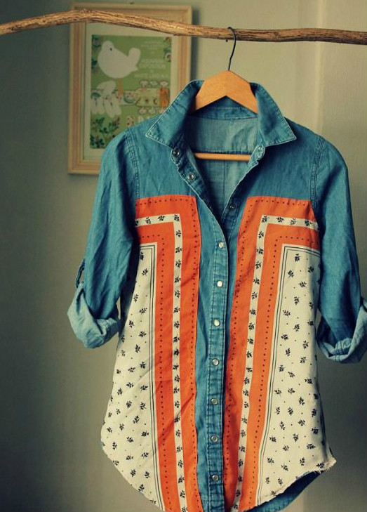 DIY Camisa vaquera customizada