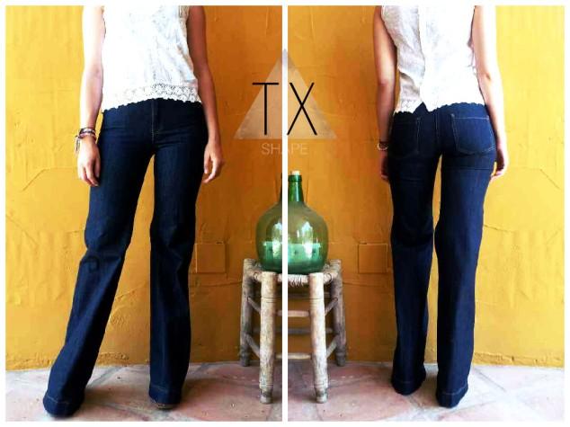 Pantalon vintage pata elefante boho style