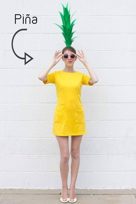 DIY disfraz piña